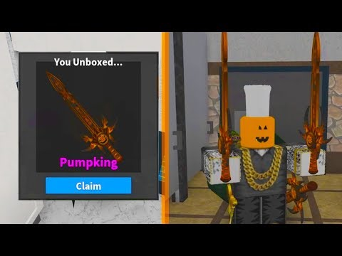 UNBOXING THE MASSIVE NEW HALLOWEEN GODLY (Roblox Murder Mystery 2)