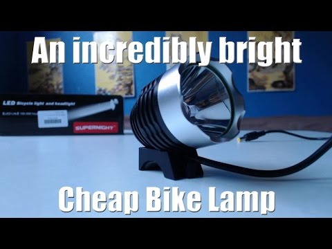 Supernight Cree XML T6 LED Bike Headlight Review