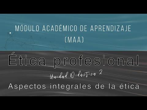 ética Profesional Ud2 Aspectos Integrales De La ética Youtube