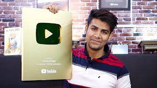 Unboxing Golden Play Button Of Technical Sagar | Thank You