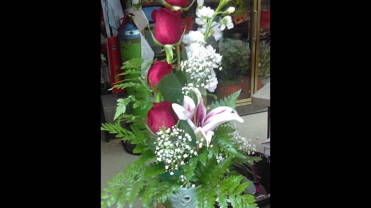 Como Hacer Arreglo De Flores Económico Y Facilisimo De Hacer