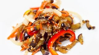 Баклажаны по-корейски  Баклажаны по корейски быстрого приготовления