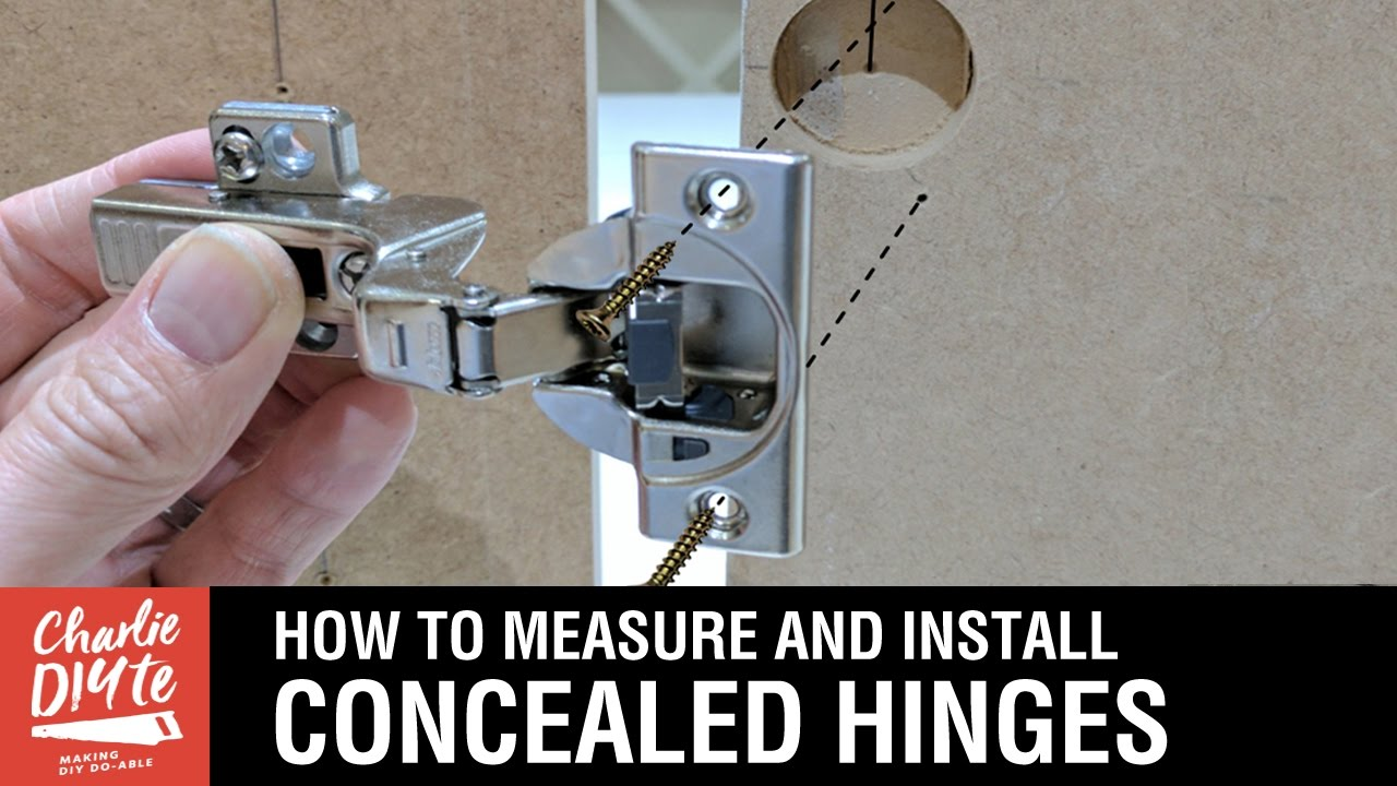 How to Measure  Install Concealed Hinges on Cabinet Doors