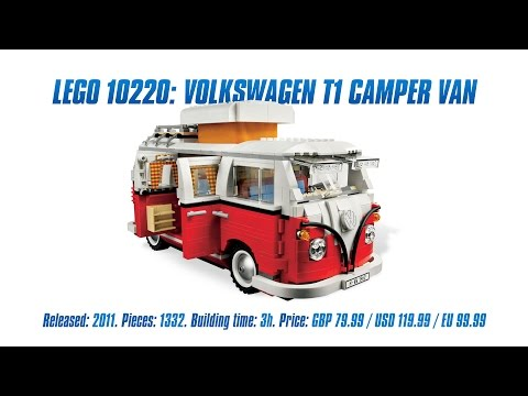 'LEGO Creator 10220: Volkswagen T1 Camper Van' Unboxing, Speed Build & Review