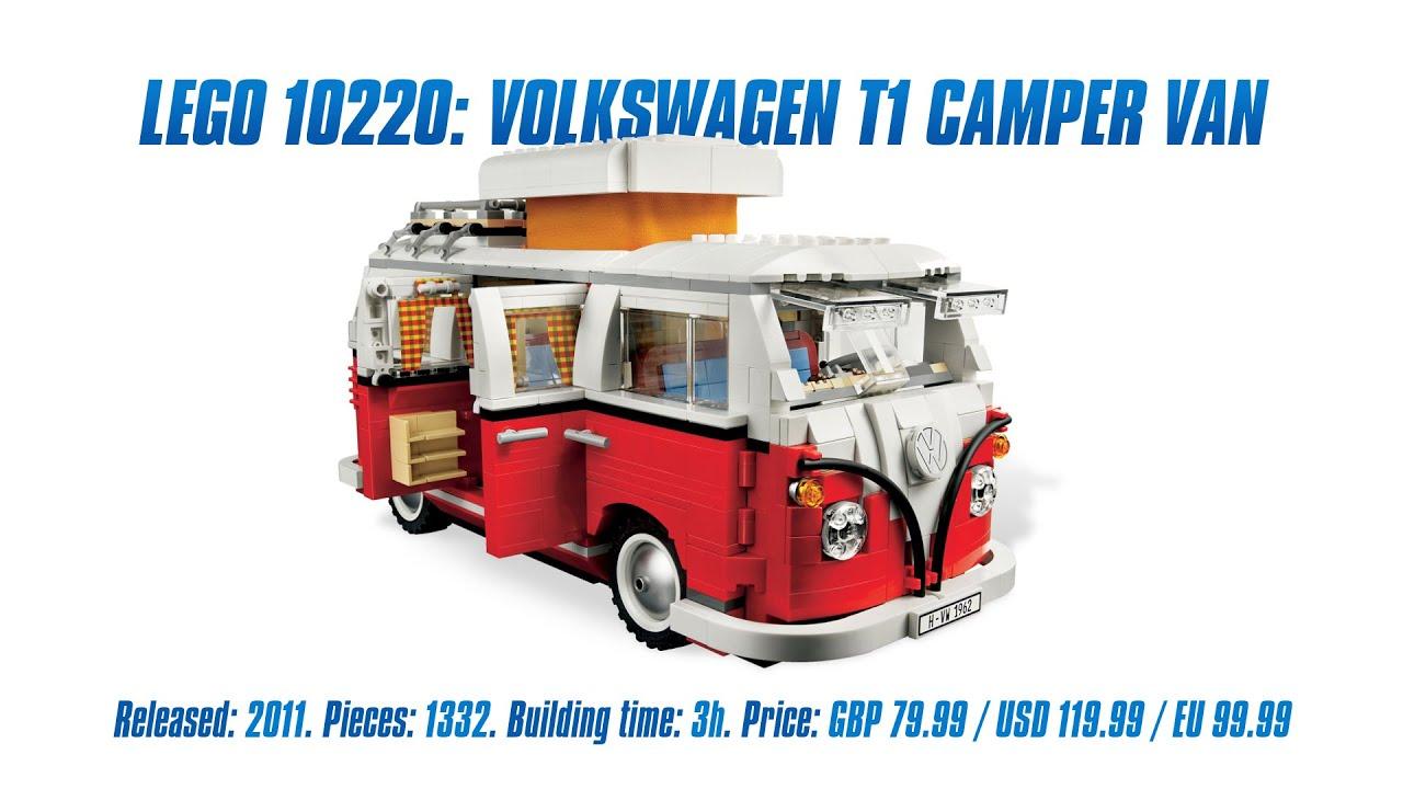 lego creator 10220: volkswagen t1 camper van' unboxing, speed