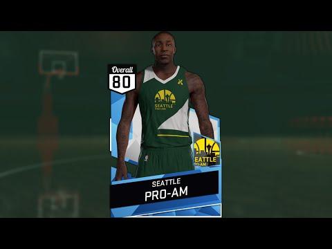 NBA 2K16 2014 Seattle Pro Am Jersey Tutorial
