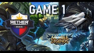 AEROWOLF vs AETHER MAIN - MSC 2018 - MOBILE LEGENDS - AE VS AEROWOL...