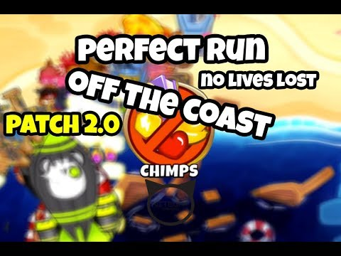 Bloons TD6 Off The Coast CHIMPS Mode Perfect Run