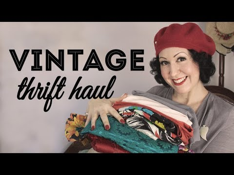 Vintage Thrift Haul!!! Lots Of Vintage Fabric, Vintage Clothing Surprises And Future Refashions!