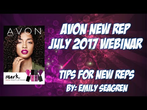New Avon Representative July 2017 Tips