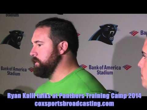 Ryan Kalil Talks At Panthers Training Camp 2014