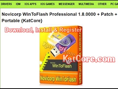 Novicorp WinToFlash Professional 1.8.0000 + Patch + Portable {May-2017}