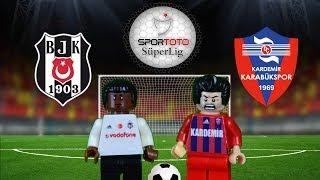 Beşiktaş Karabükspor  Maç Özeti 5-0 10.02.2018  (LEGO SÜPER LİG MAÇ ÖZETLERİ)/ Lego Football Goals