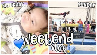 Trip to At Home, Garage Sale Finds, Family Visits & Gymnastics Meet!   Daily Vlog