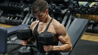 Chest And Biceps Workout w/ 17 Year Old Dekel Kabeli