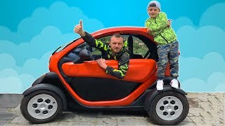 Ride on Electric Car Adventures with Papa