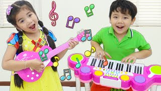 Suri Pretend Play Guitar Piano and Drums Music Toys for Kids