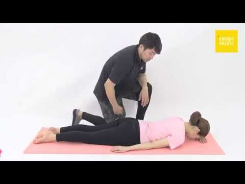 32三角筋鎖骨部のストレッチ指導法