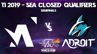 Amplfy vs Adroit Game 1 - TI9 SEA Regional Qualifiers: Semifinals