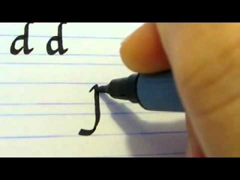 How to write calligraphy letters part 7 youtube