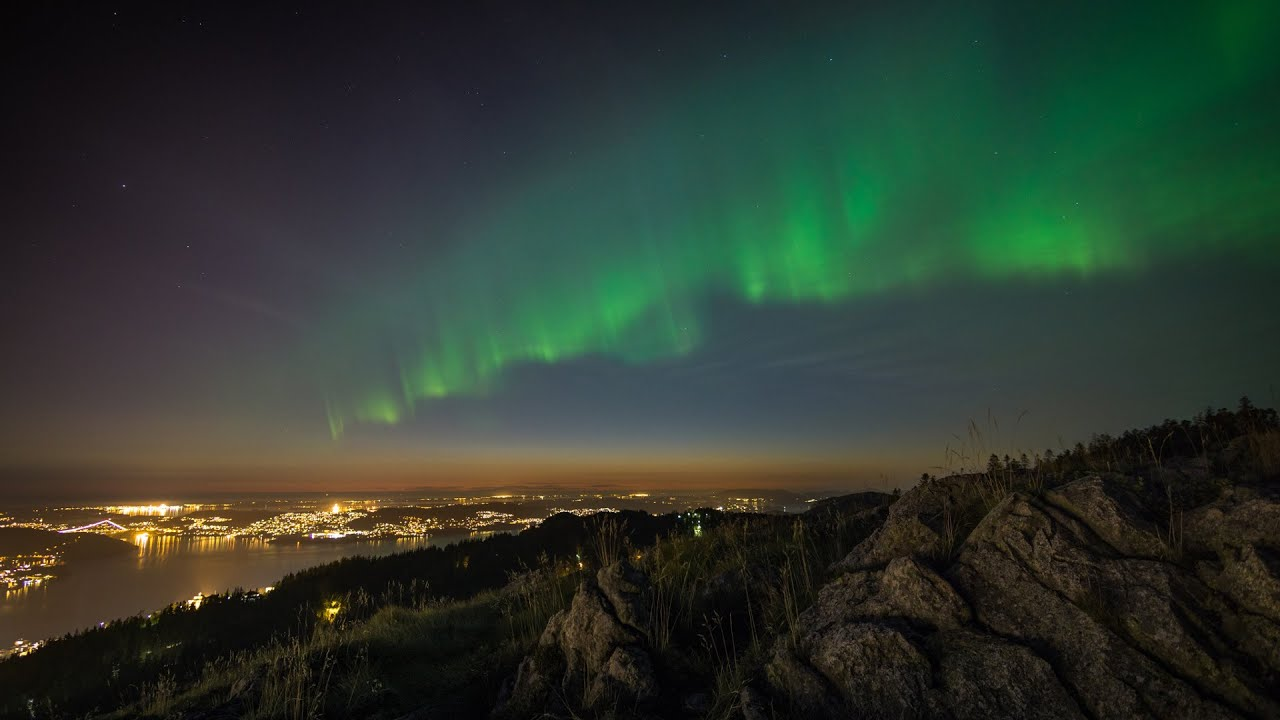 Aurora Week Bergen September 2015 Timelapse 4k Uhd