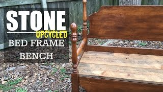 build a bench from an old bed frame