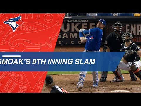 Smoak gives Blue Jays lead with grand slam in the 9th