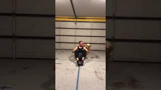 Funny dog during workout!