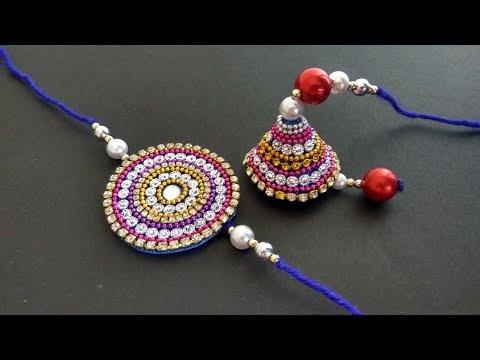 DIY  How to make Lumba Rakhi at Home   Rakhi for Bhaiya- Bhabhi   Raksha Bandhan   Easy Rakhi Making