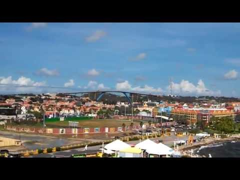 Sailing away from the port of Willemstad Curacao