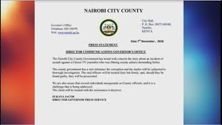 Nairobi County launches probe into Citizen TV journalist assault incident