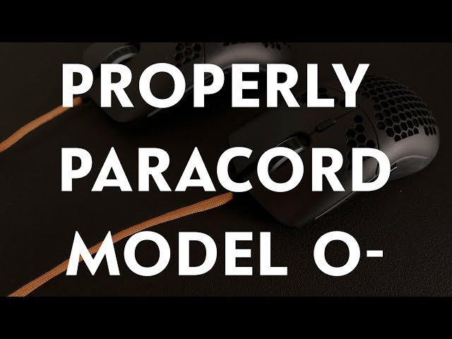 How to Properly Paracord  Glorious Model O- Gaming Mouse!