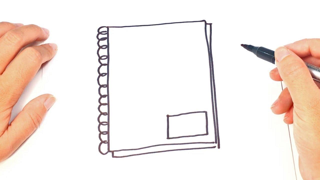 Dibujos Para Portadas De Cuaderno: Como Dibujar Un Cuaderno Para Niños