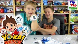 Yo Kai Watch Uhr mit zwei Medaillen Sammel Spielzeug Unboxing TipTapTube Kinderkanal