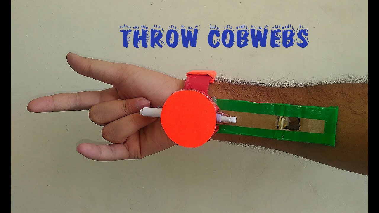 How To Make Spider Man Throw Cobwebs Easy Way Toy For
