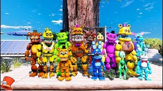 WORLD'S BIGGEST FNAF TREEHOUSE! (GTA 5 Mods For Kids FNAF RedHatter)