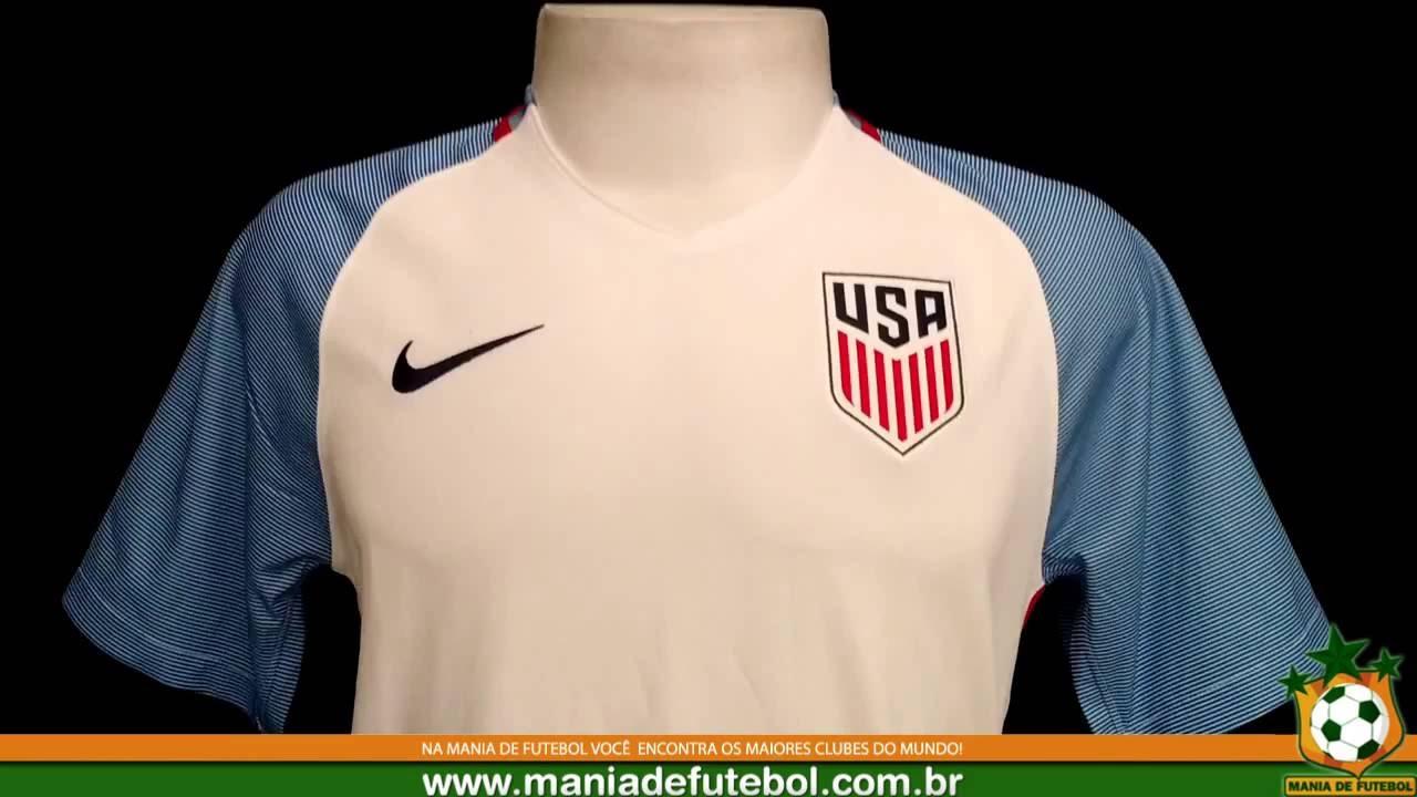 0f00160caf037f Camisa de Jogo Estados Unidos Nike 2016 Branca - YouTube
