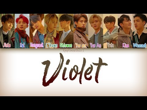 PENTAGON (펜타곤) - VIOLET | Han, Rom, Eng [Color Coded Lyrics]