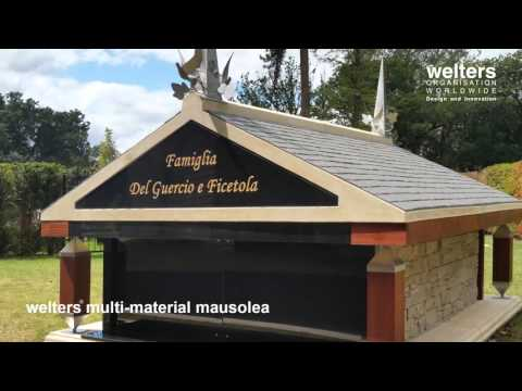 Multi-material family style mausoleum range - design and installation