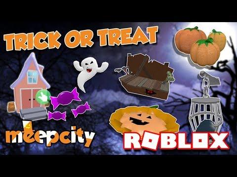 DES BONBONS OU UN SORT !   Roblox Meep City Halloween