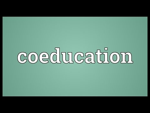 Coeducation Meaning