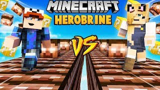 SZALONY WYŚCIG! - HEROBRINE LUCKY BLOCKI RACE MINECRAFT | Vito vs Bella