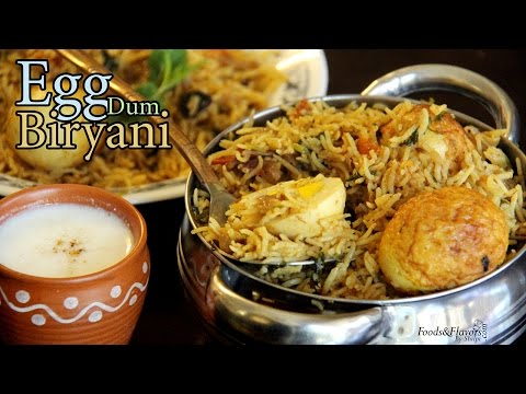 Egg Biryani Recipe | How to make Egg Dum Biryani at Home | Indian Food Recipes / Indian Recipes