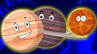 планеты песня узнать планеты детские стишки Kids Rhymes Planets Songs