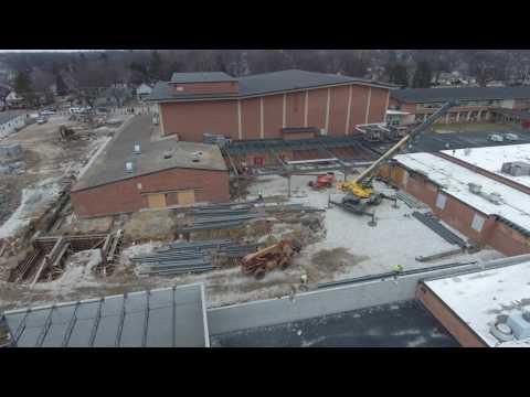East Aurora High School Construction Progress 02/06/2017
