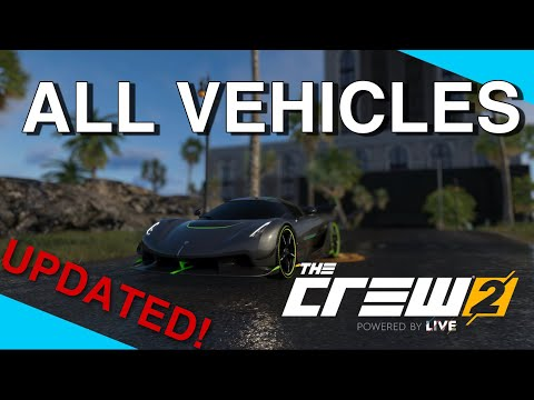 The Crew 2 - All Vehicles| 2021 ( All Cars, Bikes, Planes & Boats) |