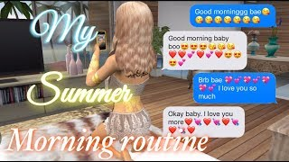 MY SUMMER MORNING ROUTINE | Avakin Life