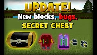 UPDATE! NEW BLOCKS, BUGS, FLY GLITCH, SECRET CHEST | Build a Boat for Treasure ROBLOX