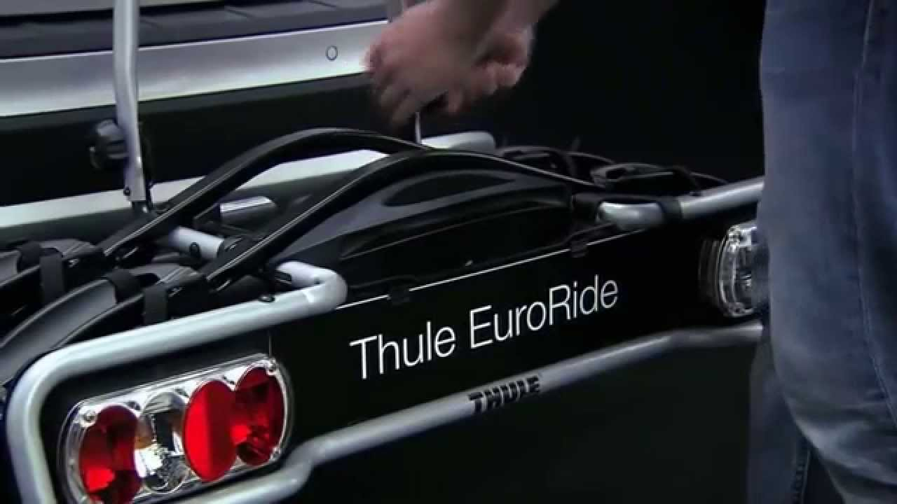 Uu Ua Uu >> Bike Carrier Towbar - Thule EuroRide 941/943 - YouTube