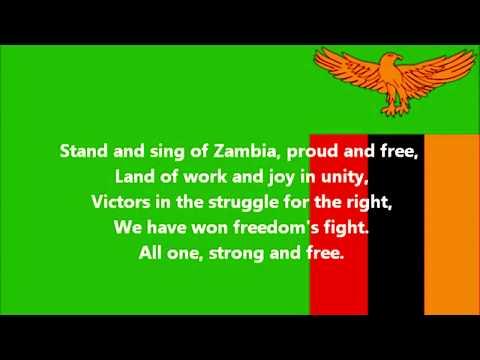 Stand and Sing of Zambia, Proud and Free National Anthem of Zambia English lyrics